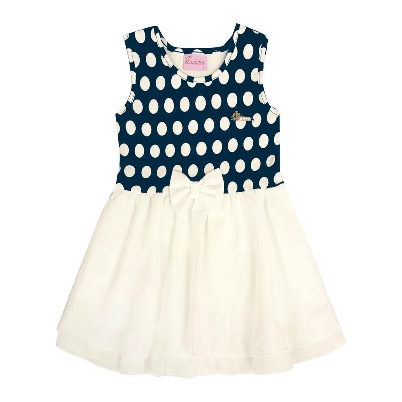 Vestido Bebê Menina Laço Azul