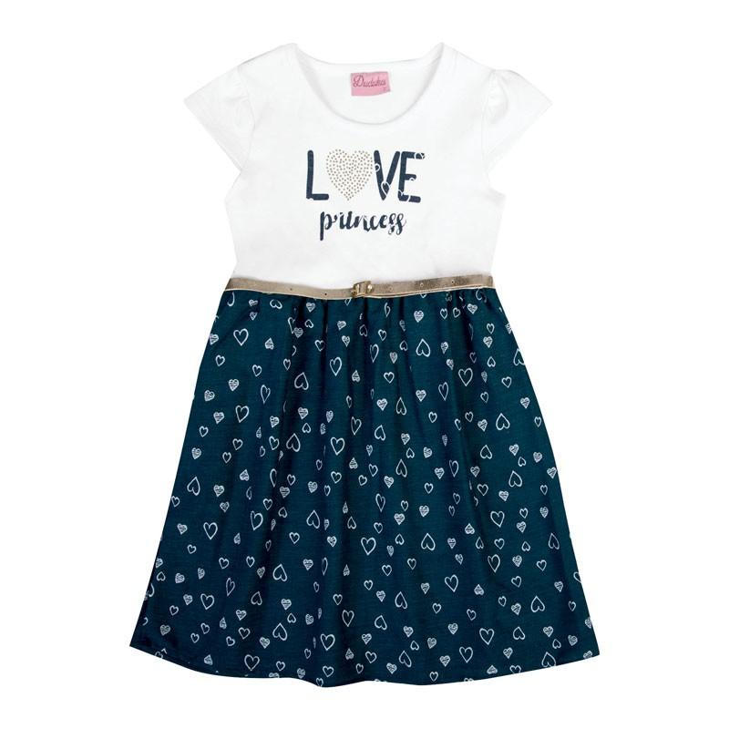 Vestido Bebê Menina Love Princess Azul