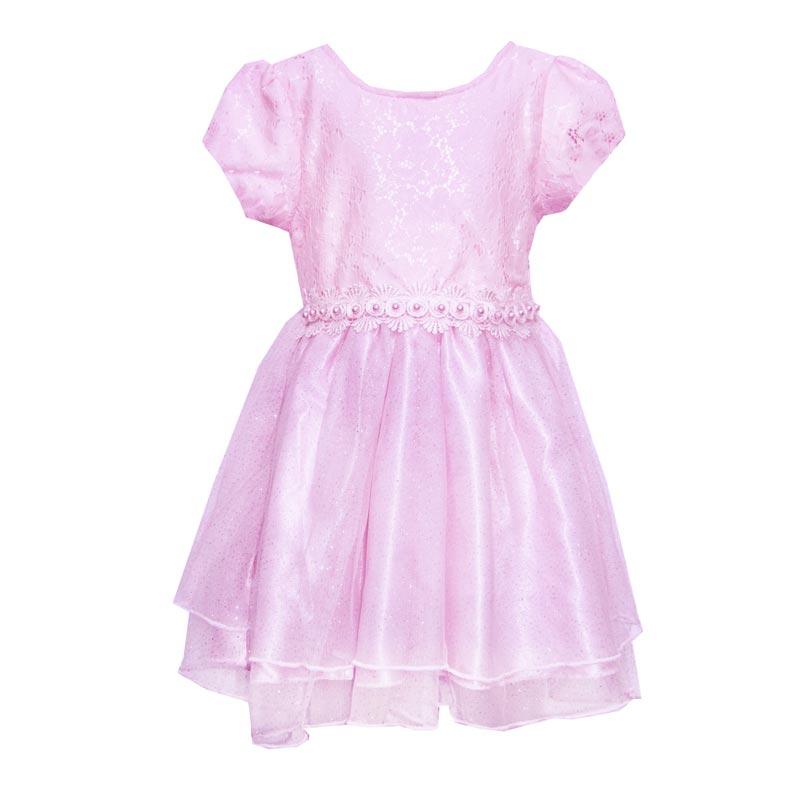 Vestido Bebê Menina Princesa Rosa