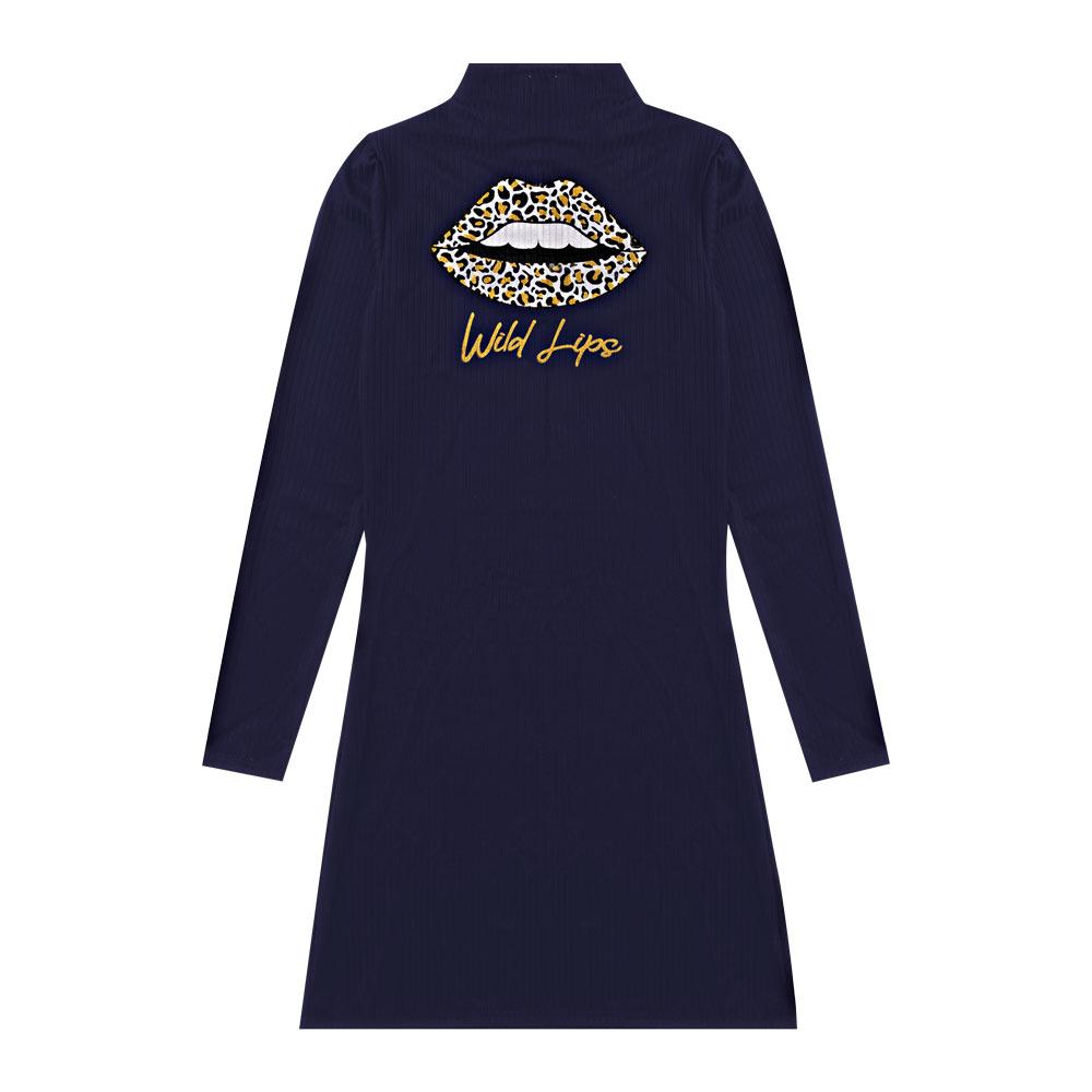 Vestido Cobertura Juvenil/Adulto Feminina Azul