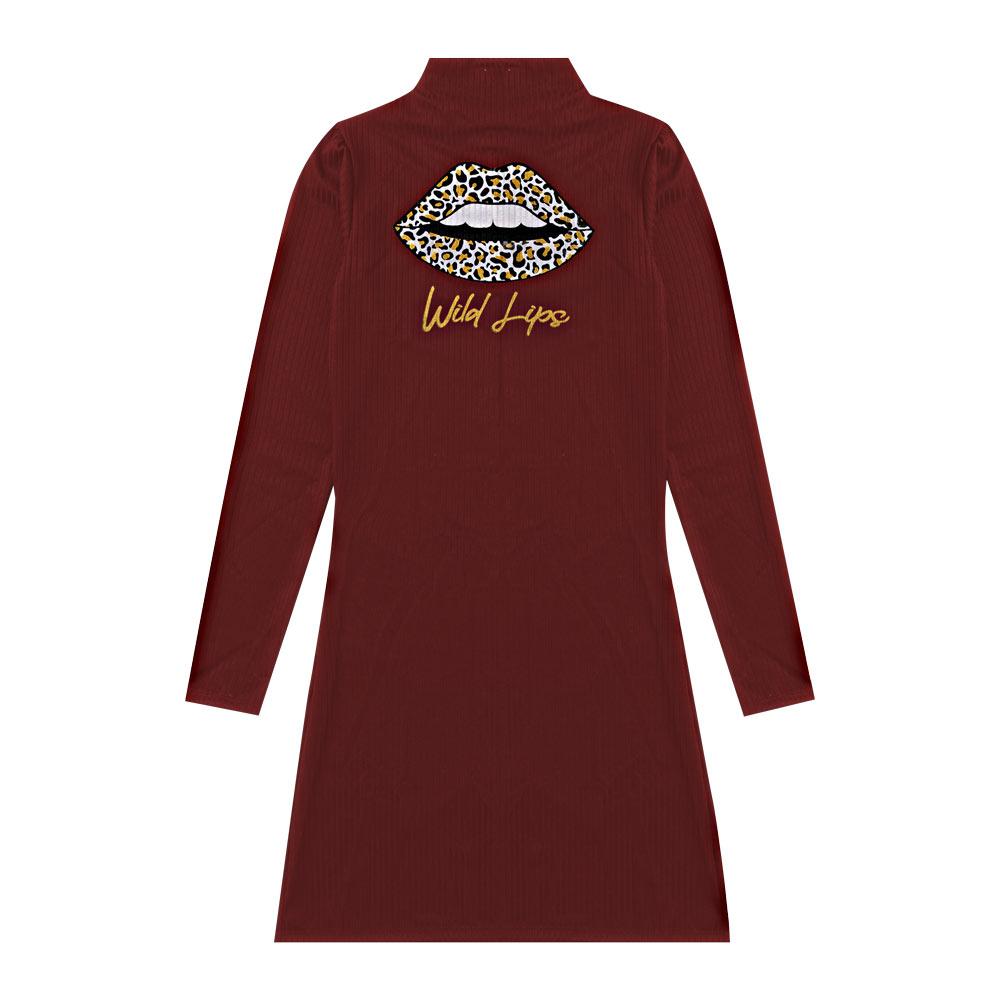 Vestido Cobertura Juvenil/Adulto Feminina Bordo