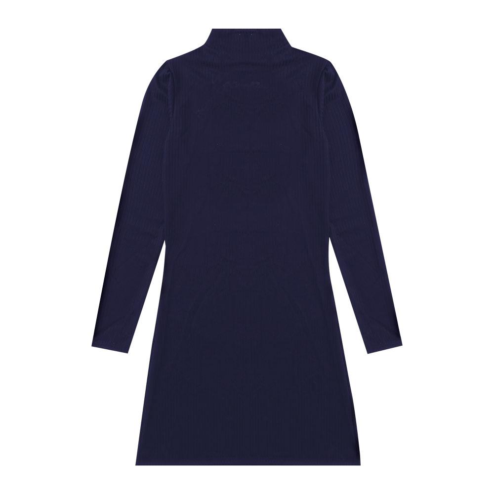 Vestido Cobertura Juvenil/Adulto Feminina Liso Azul