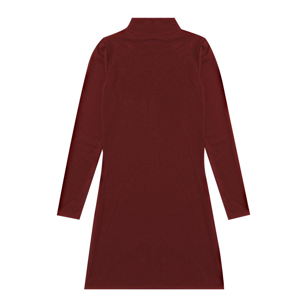Vestido Cobertura Juvenil/Adulto Feminina Liso Bordo