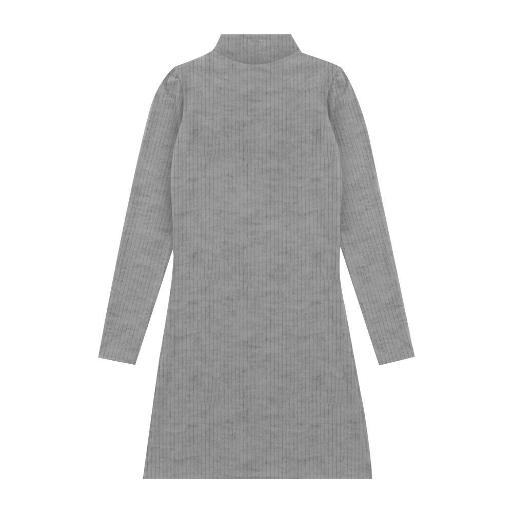 Vestido Cobertura Juvenil/Adulto Feminina Liso Cinza