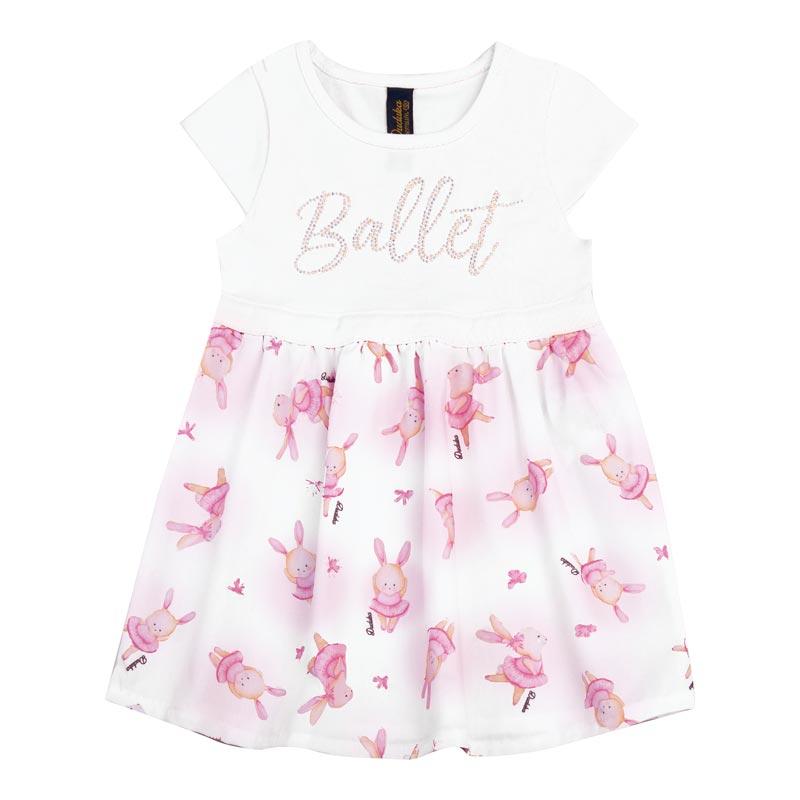 Vestido Duduka Bebê Bailarina Branco