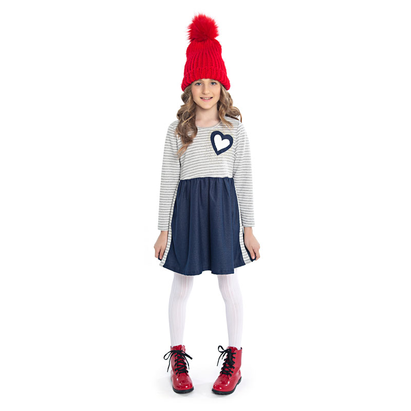 Vestido Infantil Coração - Duduka