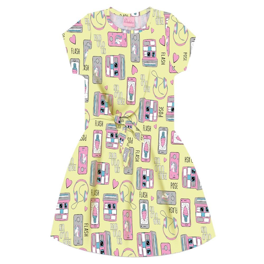 Vestido Duduka Infantil Fabulous Amarelo