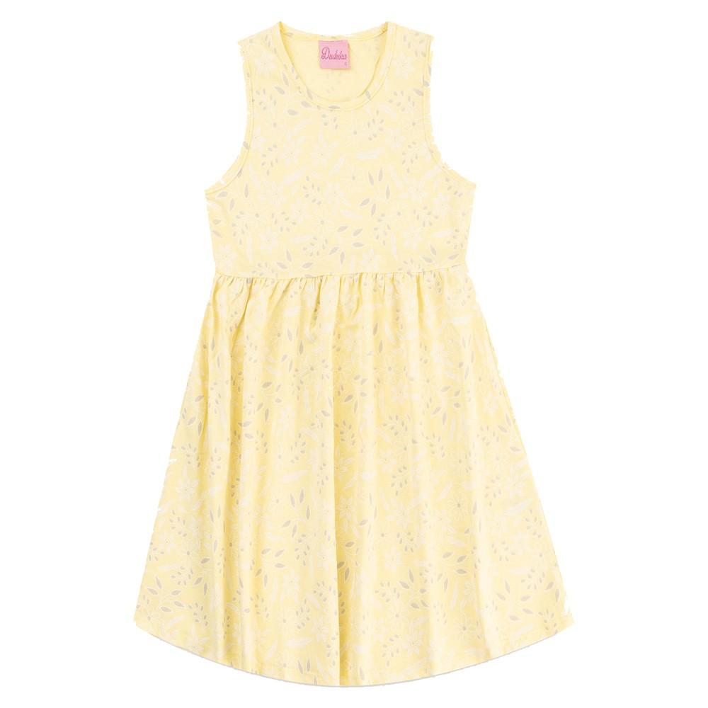 Vestido Duduka Infantil Flores Amarelo