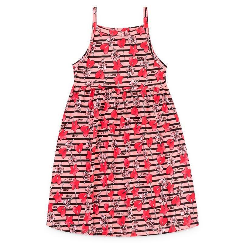 Vestido Duduka Infantil Menina Alça Coração Rosa