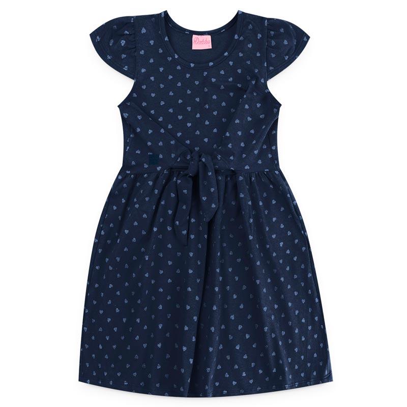 Vestido Duduka Infantil Menina Bolinha Azul