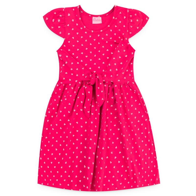 Vestido Duduka Infantil Menina Bolinha Rosa