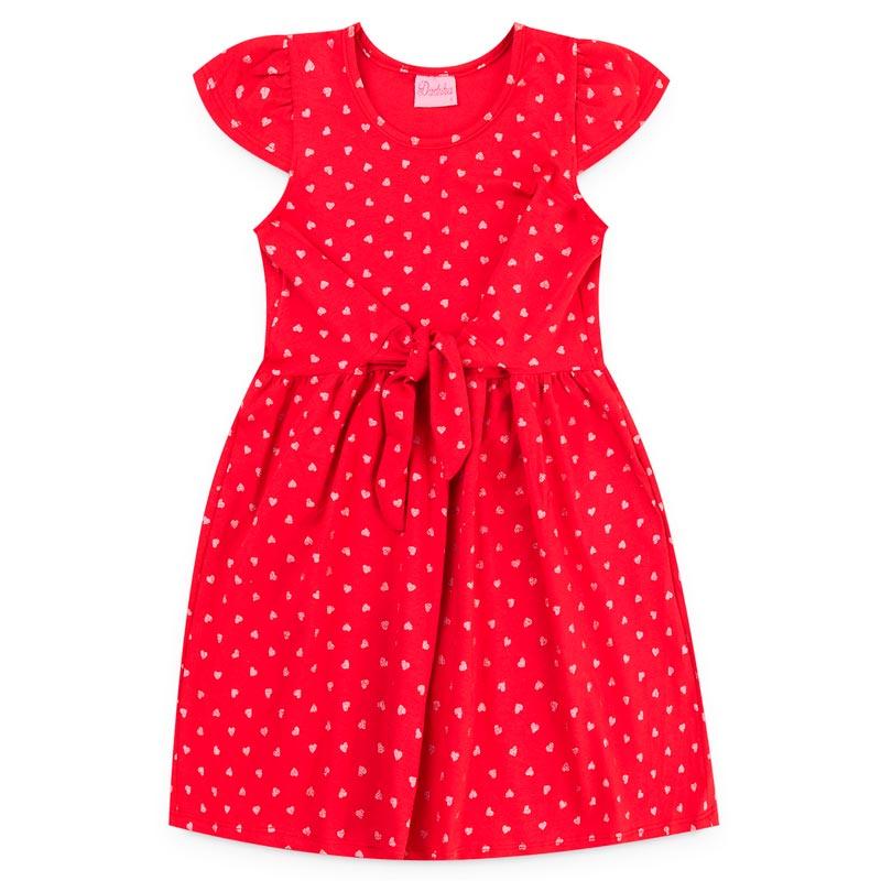 Vestido Duduka Infantil Menina Bolinha Vermelho