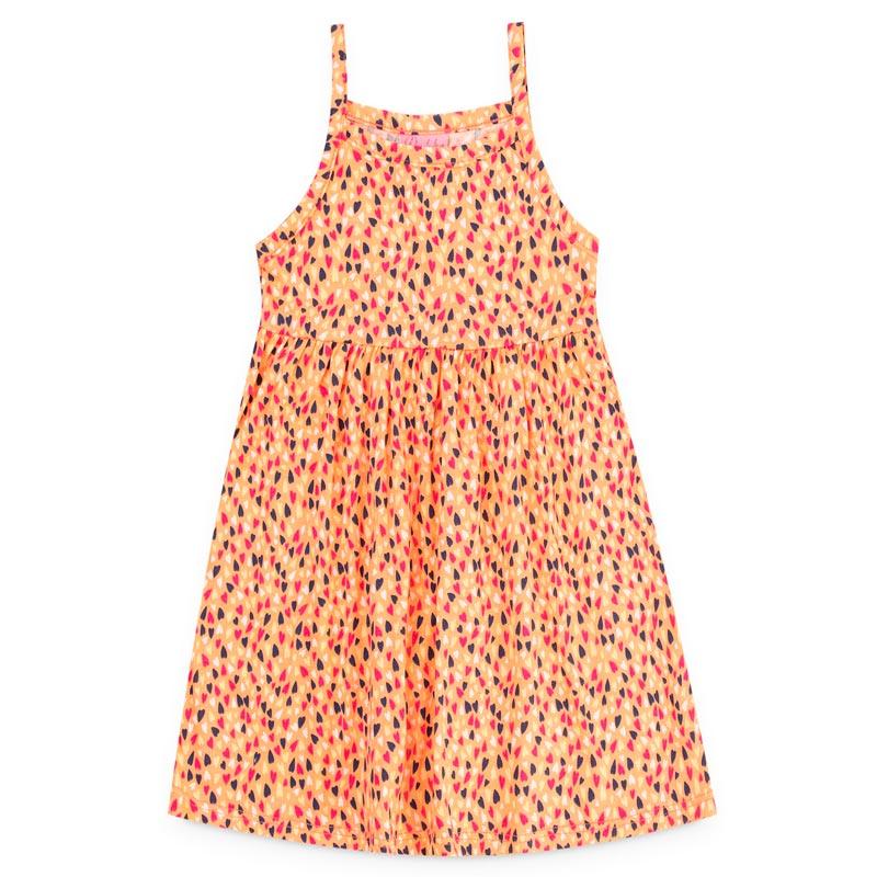 Vestido Duduka Infantil Menina Coração Laranja