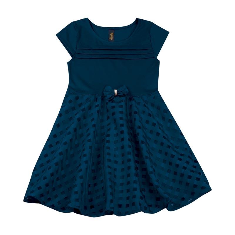 Vestido Duduka Infantil Menina Laço Azul