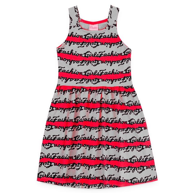Vestido Duduka Infantil Menina Letras Vermelho