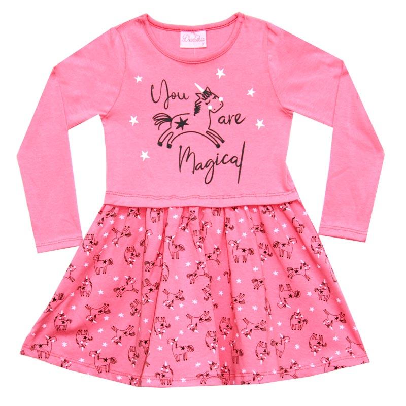 Vestido Duduka Infantil Menina Magical Rosa