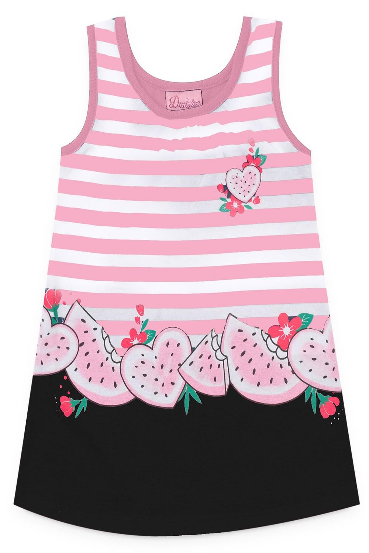 Vestido Duduka Infantil Menina Melancia Rosa