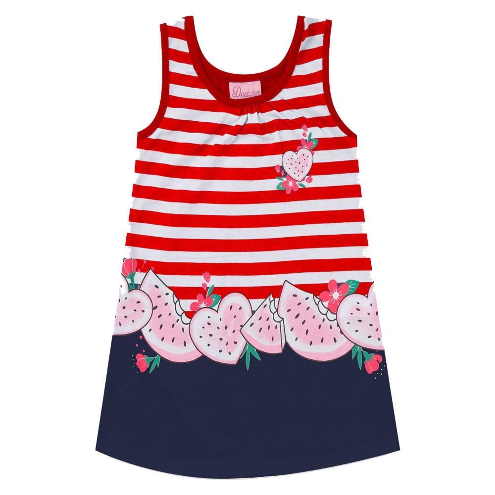 Vestido Duduka Infantil Menina Melancia Vermelho