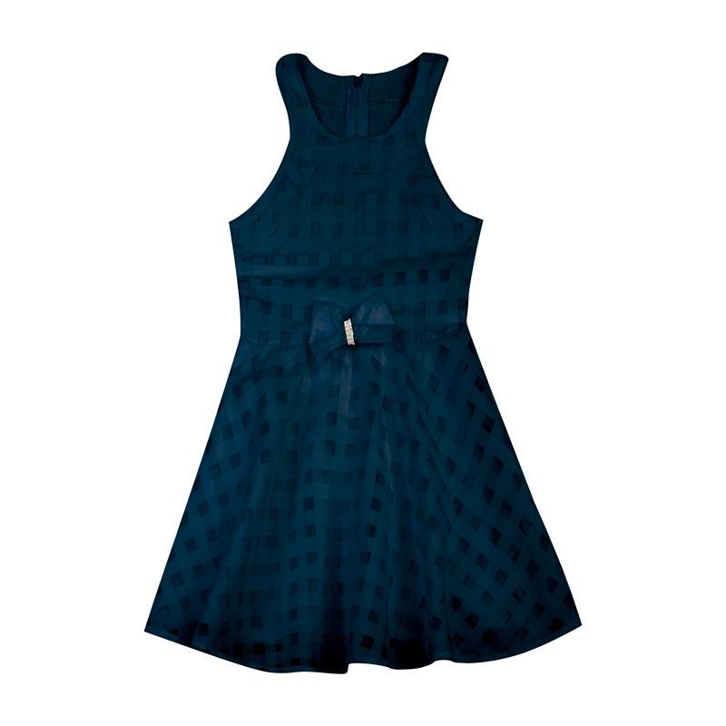 Vestido Duduka Infantil Menina Tule Azul