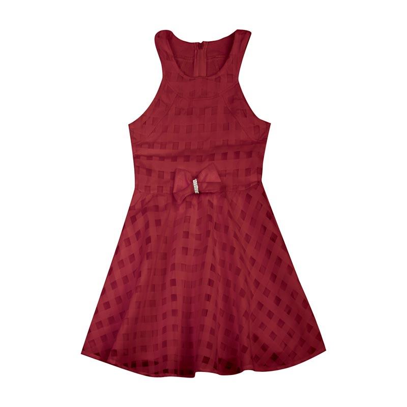 Vestido Duduka Infantil Menina Tule Vermelho