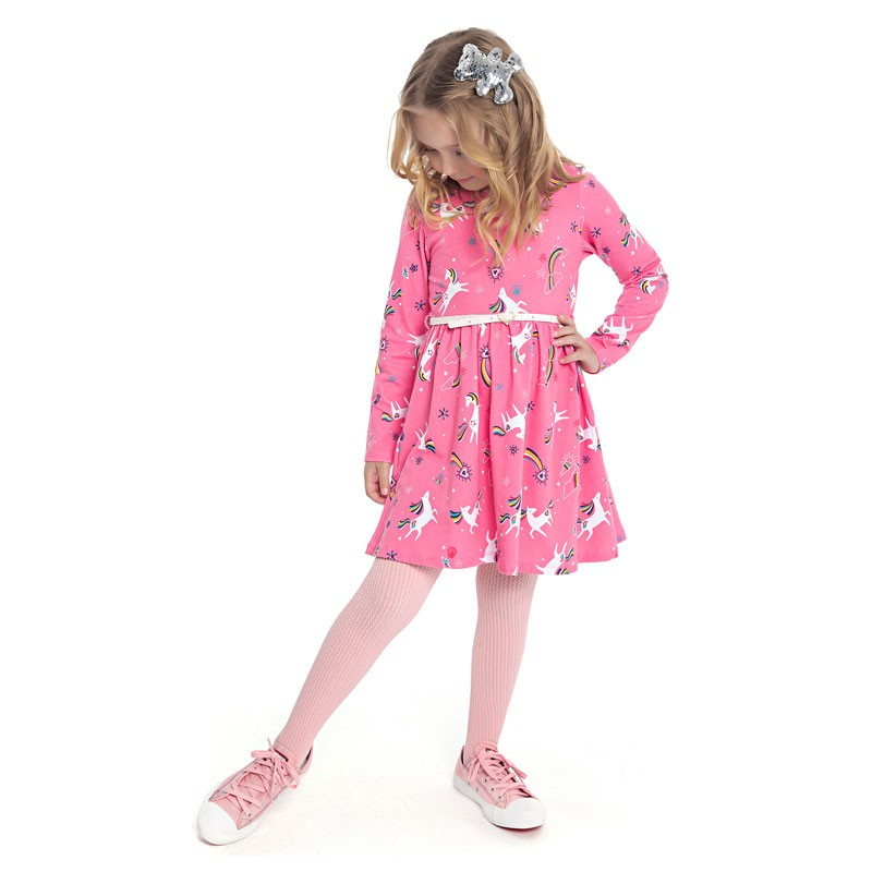 Vestido Duduka Infantil Menina Unicórnios Rosa
