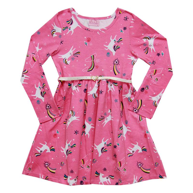 Vestido Duduka Infantil Unicórnio Rosa