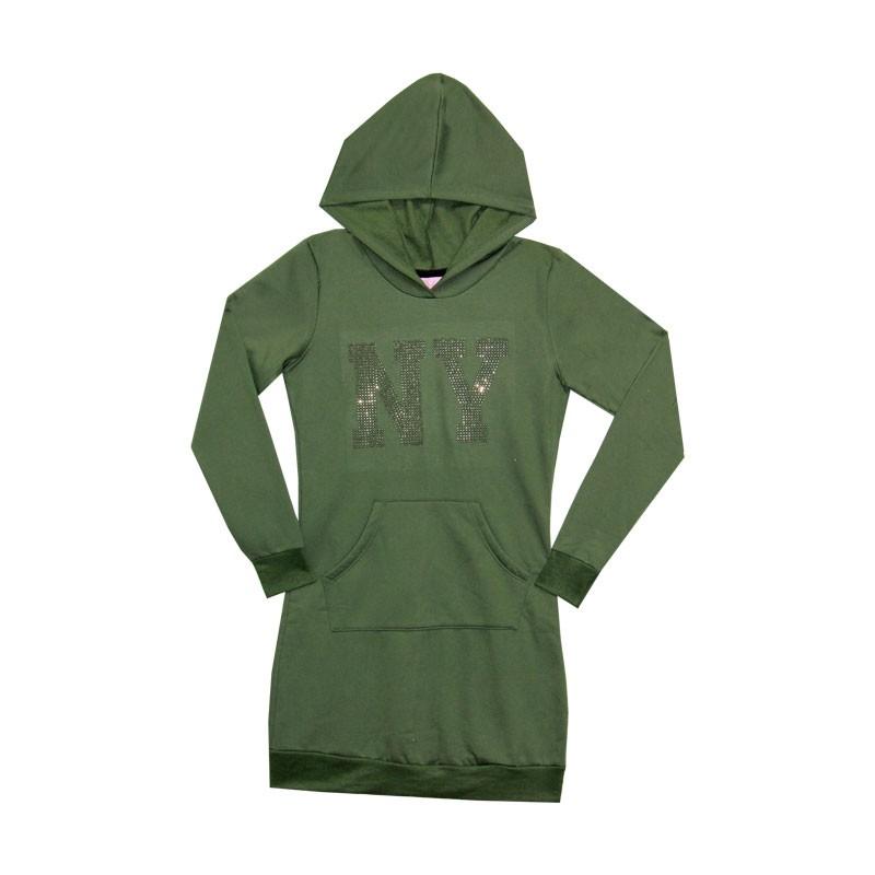 Vestido Duduka Juvenil Menina NY  Verde