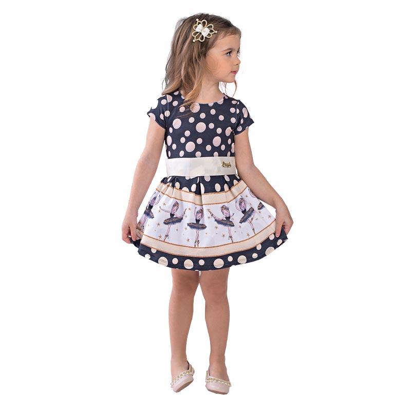 Vestido Infantil Menina Bailarina Preto