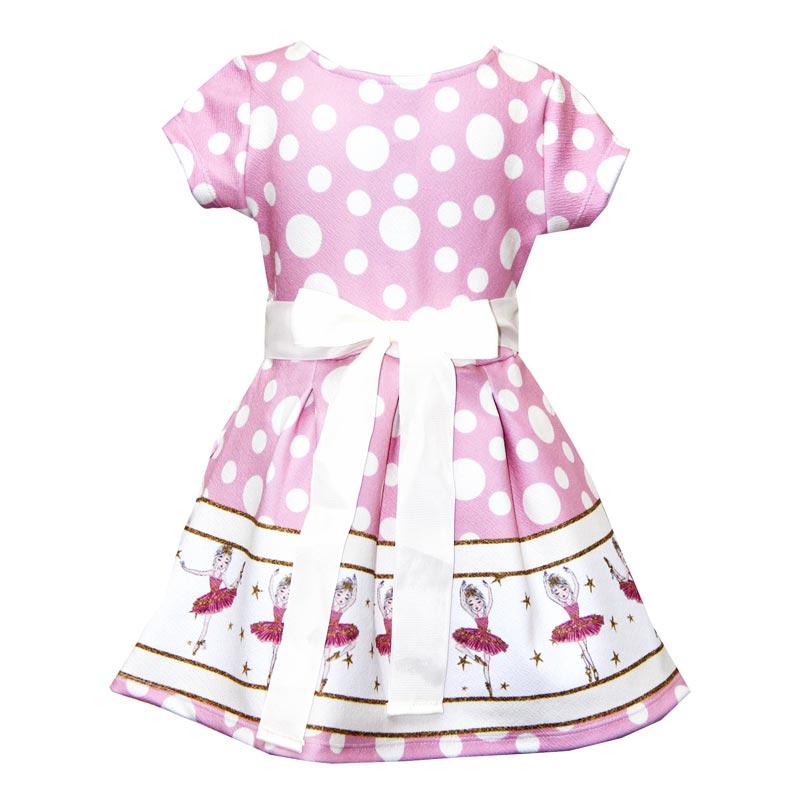 Vestido Infantil Menina Bailarina Rosa