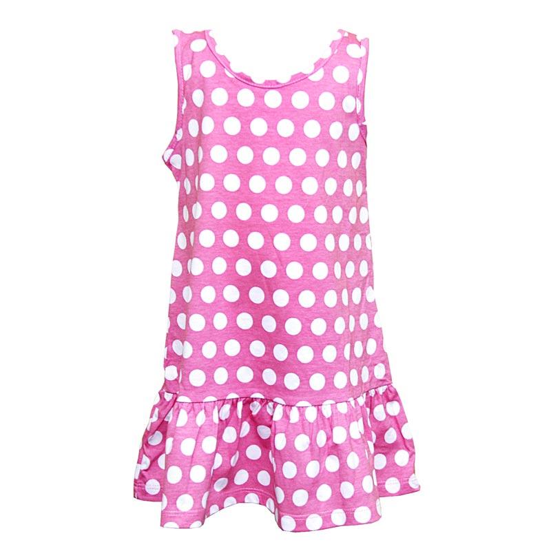 Vestido Infantil Menina Bolinhas Rosa