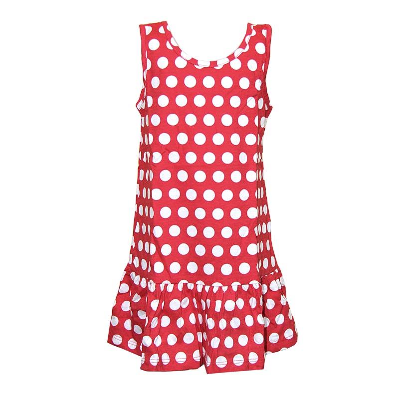 Vestido Infantil Menina Bolinhas Vermelho