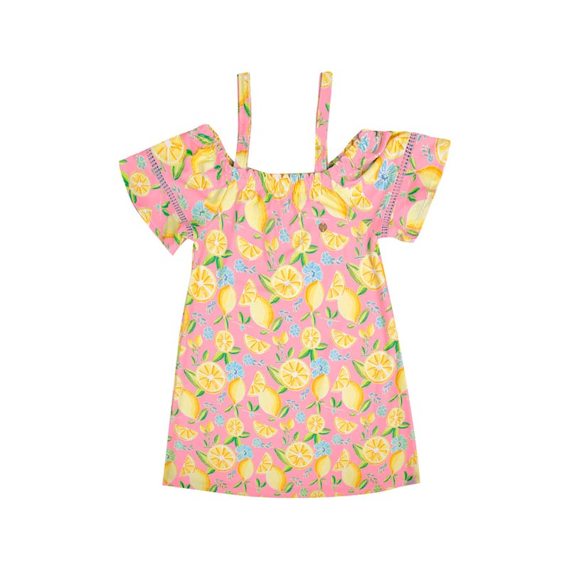 Vestido Paytê Infantil Menina Ciganinha Rosa