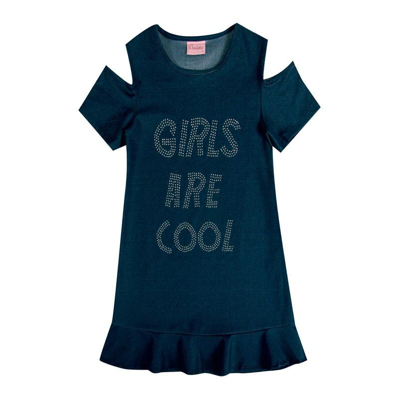Vestido Infantil Menina Girls Are Cool Azul