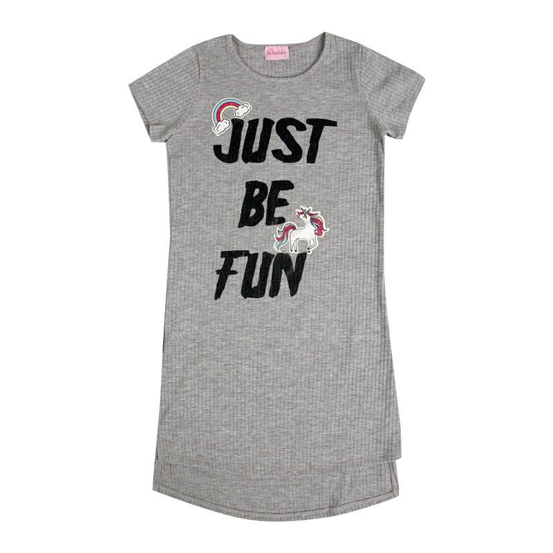Vestido Infantil Menina Just Be Fun Mescla