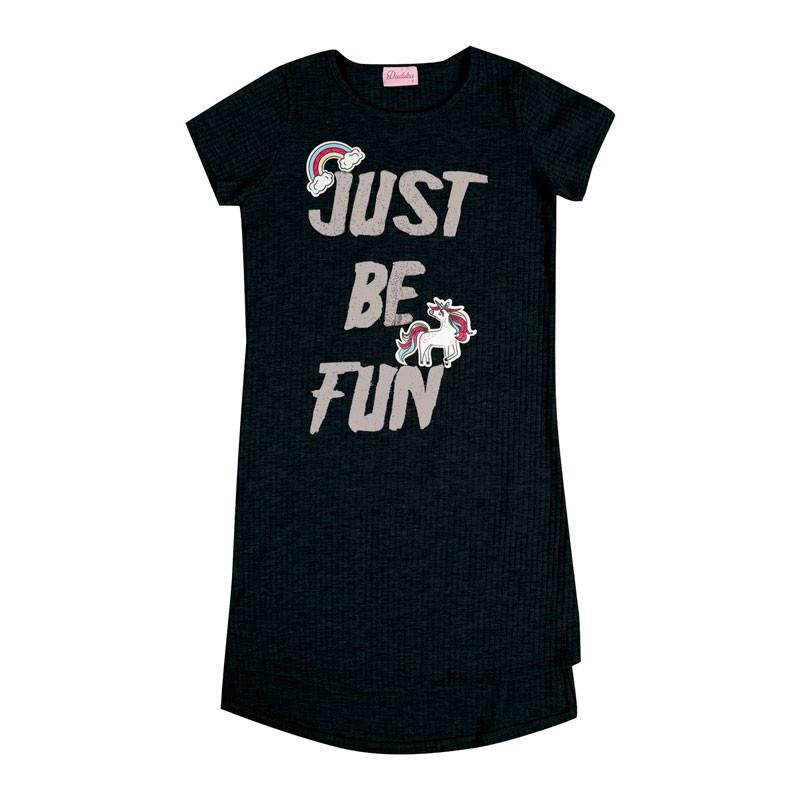 Vestido Infantil Menina Just Be Fun Preto