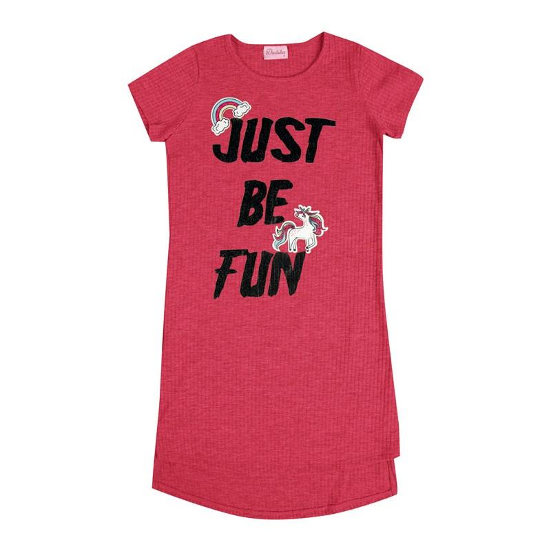Vestido Infantil Menina Just Be Fun Rosa