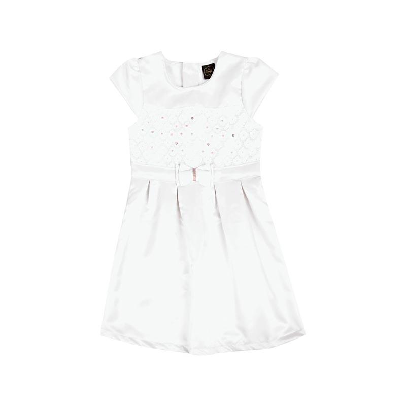 Vestido Paytê Infantil Menina Laço Bege