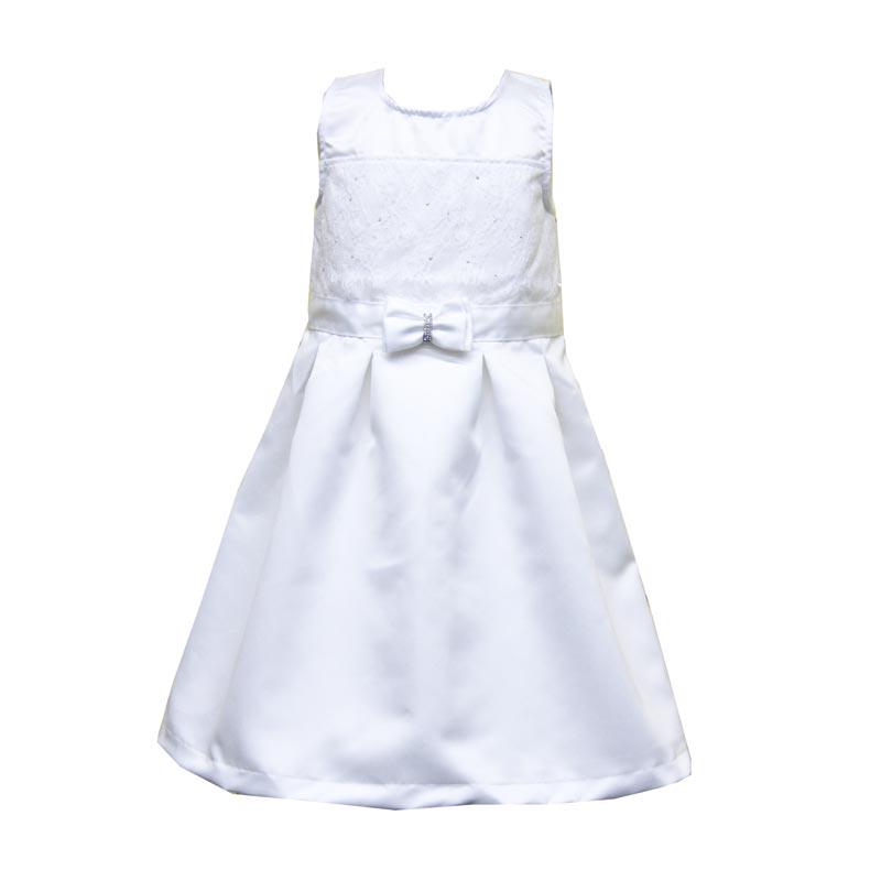 Vestido Infantil Menina Laço Branco
