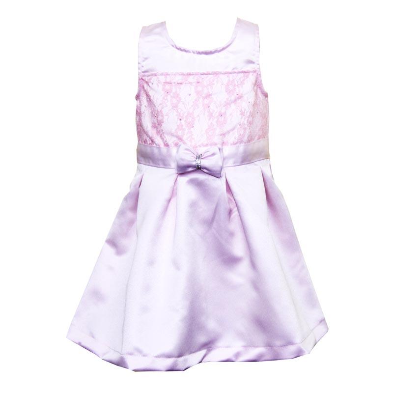 Vestido Infantil Menina Laço Rosa