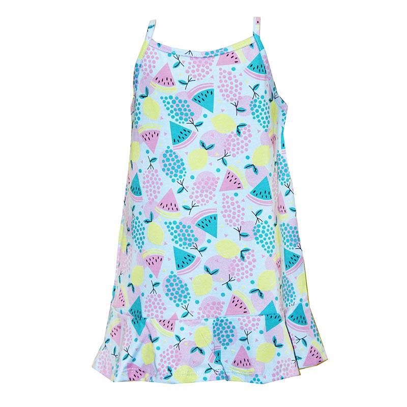 Vestido Infantil Menina Melancia Azul