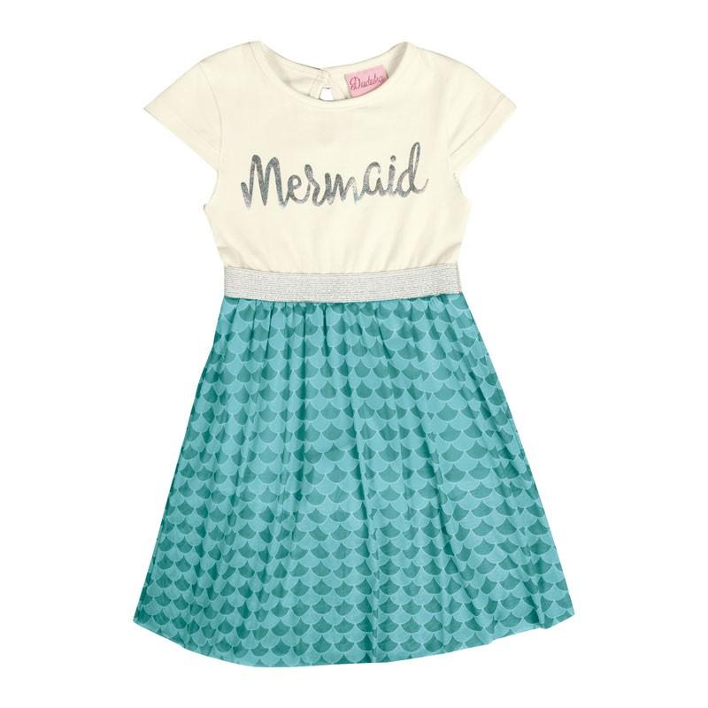 Vestido Infantil Menina Mermaid Bege