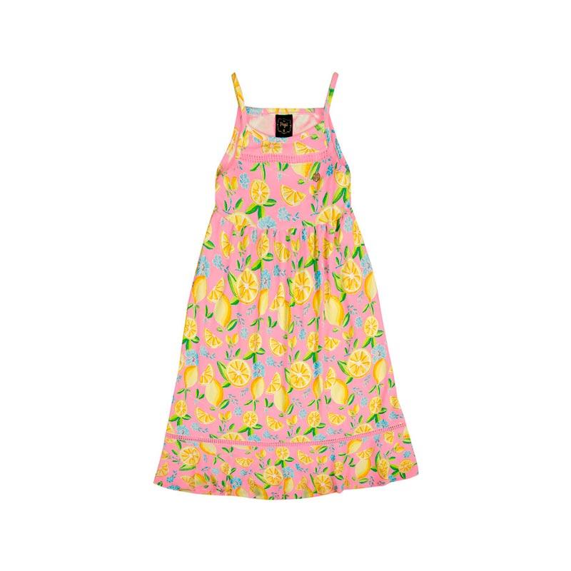 Vestido Paytê Infantil Menina Midi Rosa