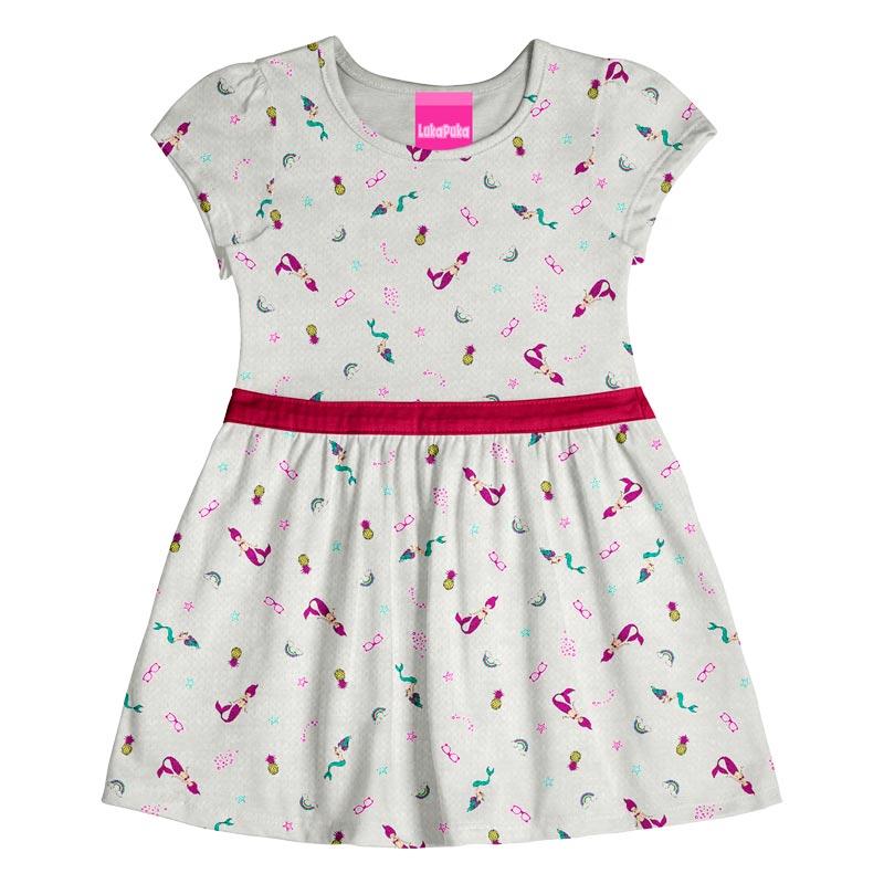 Vestido Infantil Menina Sereia Cinza
