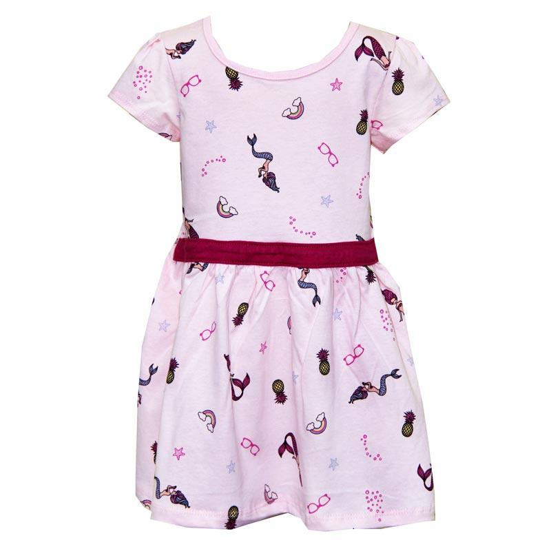 Vestido Infantil Menina Sereia Rosa