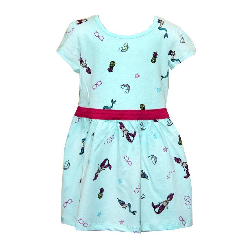 Vestido Infantil Menina Sereia Verde