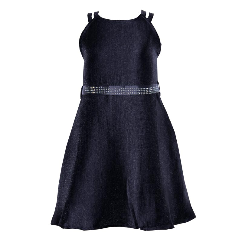 Vestido  Infantil Menina Strass Preto