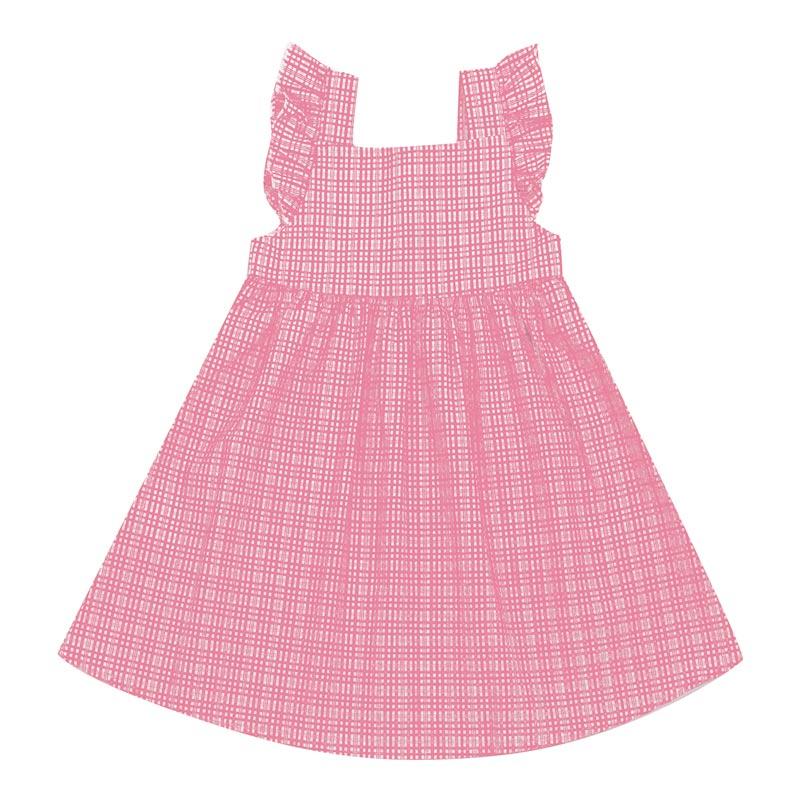 Vestido Duduka Infantil Menina Xadrez Rosa