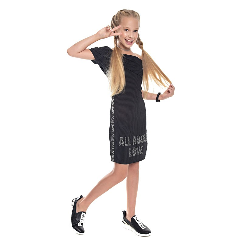 Vestido Paytê Juvenil Menina Ciganinha Preto