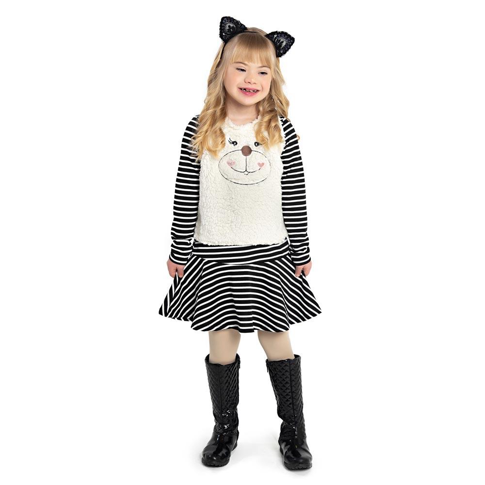 Vestido Infantil Feminino Ursinho - Paytê