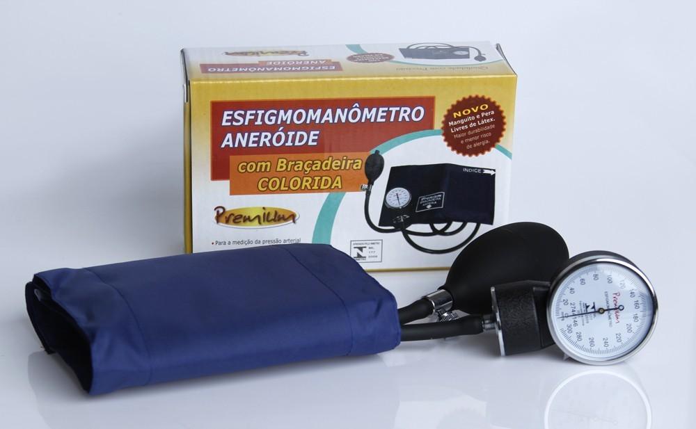 Esfigmomanômetro aneróide Premium azul